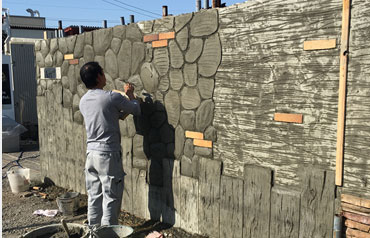 造形モルタル工事
